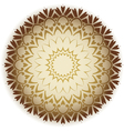 damask circle vector image