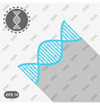 DNA icon on seamless background vector image vector image