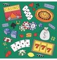 Doodle casino vector image vector image