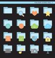 flat folder icons vol 1 vector image vector image