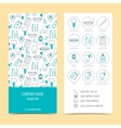 Flyer brochure for dental clinic Set of vector image vector image