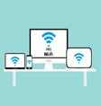 Free wi-fi multi platform device vector image vector image