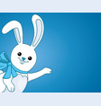 funny bunny with a bow vector image vector image