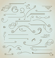 Hand-drawn vintage design elements set vector image vector image