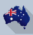 happy australia day map of australia vector image