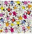 Happy kids pattern 2 vector image vector image
