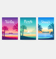 happy vacation landscape paradise on tropical vector image