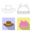 headgear and cap logo vector image vector image