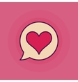 Heart in speech bubble symbol vector image