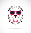 images of lion wearing sunglasses vector image vector image