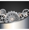 Industrial background with gears vector image vector image