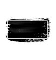 ink brush stroke with white frame acrylic paint vector image