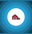 isolated shed flat icon ranch element can vector image