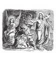 jesus appears to mary magdalene outside the tomb vector image vector image