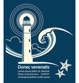 Lighthouse graphic poster for text vector image vector image