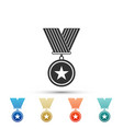 medal with star icon isolated on white background vector image vector image