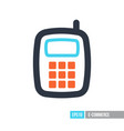 mobile phone icon smart phone vector image