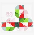 modern elegant geometric circles abstract vector image vector image