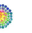 multicolored watercolor splash background vector image