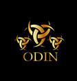 odin- the graphic is a symbol of the horns of odin vector image vector image