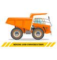 off-highway truck heavy mining machine vector image vector image