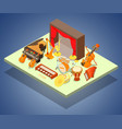 philharmonic concept banner isometric style vector image