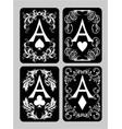 poker cards aces set vector image vector image