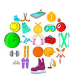 pro icons set cartoon style vector image vector image