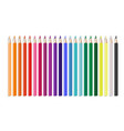 realistic colorful pencil office or school items vector image