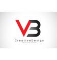 red and black vb v b letter logo design creative vector image vector image