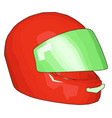 red and green motorcycle helmet on white vector image vector image
