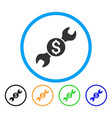 repair cost rounded icon vector image vector image
