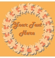 Round frame of flowers vector image