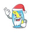 santa candy mascot cartoon style vector image