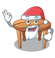 santa wooden table isolated on the mascot vector image vector image