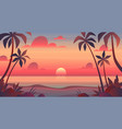 sea sunset evening or morning view vector image vector image