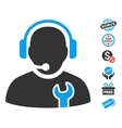 Service Operator Icon With Free Bonus vector image vector image
