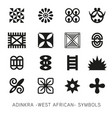 set akan and adinkra -west african symbols vec vector image vector image