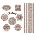 set seven chakras vector image vector image