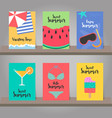 set summer background for template design vector image