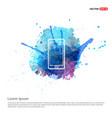 smartphone icon - watercolor background vector image