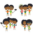 summer african-american male and female vector image