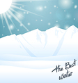 The best winter happy holiday vector image vector image
