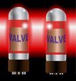 two hot amplifier valves vector image