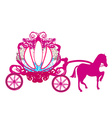 vintage carriage - doodle icon vector image