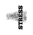 what is stress text word cloud concept vector image vector image