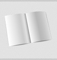 white booklet template mockup isolated vector image