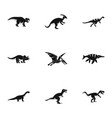 wild dinosaur icons set simple style vector image vector image