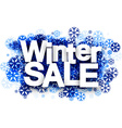 Winter sale background with snowflakes vector image vector image