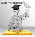 School and education background vector image